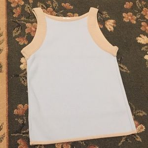 Armani Collection top blue beige 2